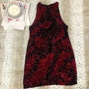 Some Days Lovin Velvet Brocade Red Mini Dress NWT